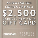 Last day to enter to win a $2,500 Barneys gift card.