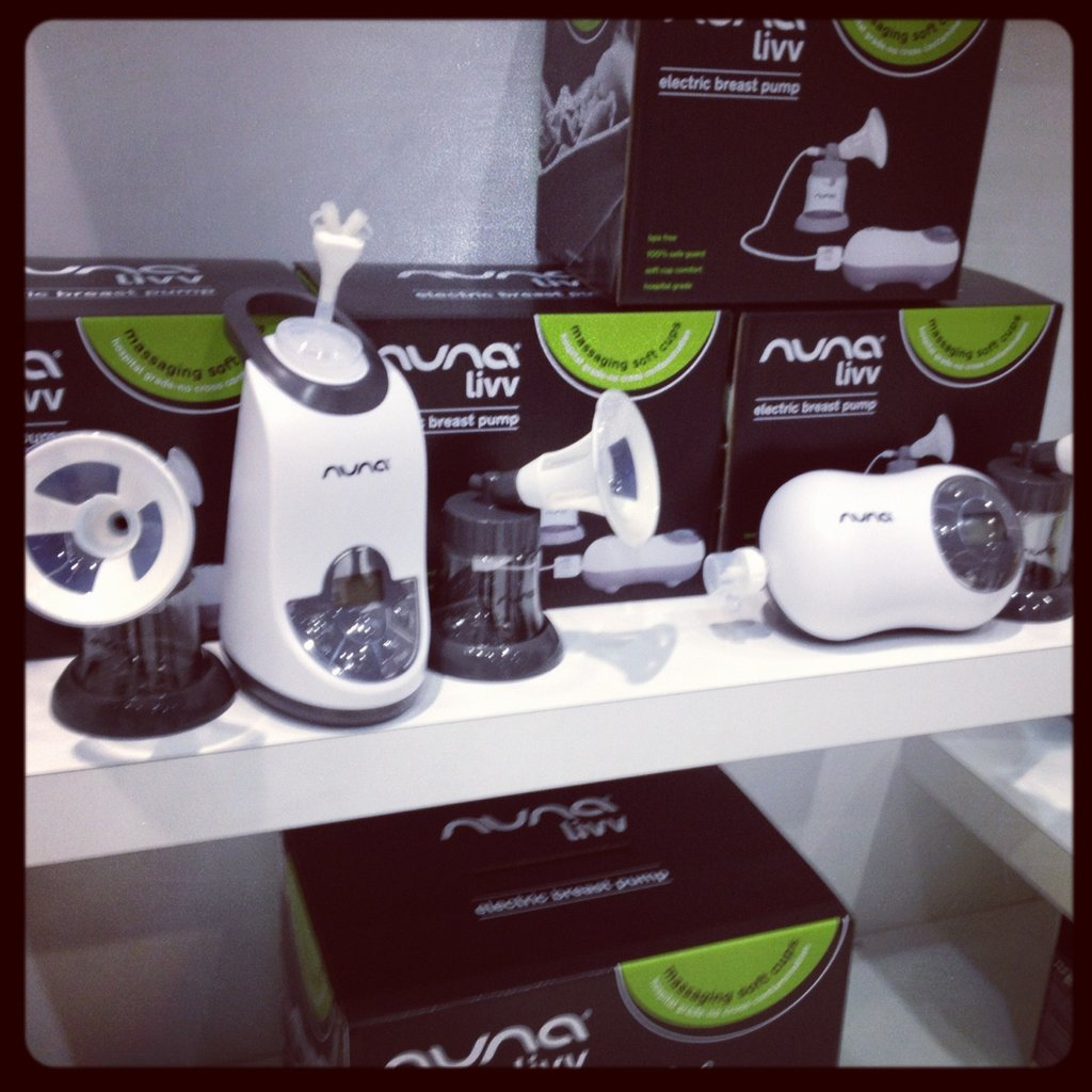 Though there isn't a release date yet, how cool does Nuna's breast pump look?