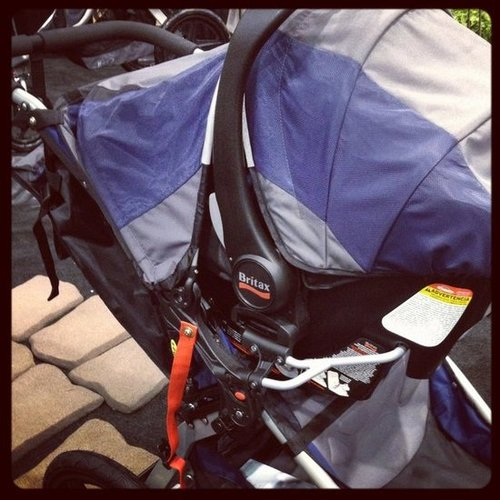 Britax's B-Safe car seat is now compatible with BOB strollers.