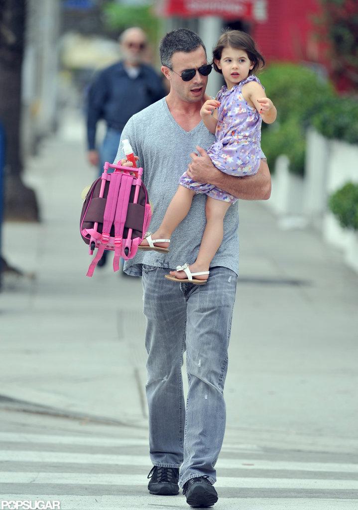 Freddie Prinze Jr. and Charlotte Prinze walked in LA.