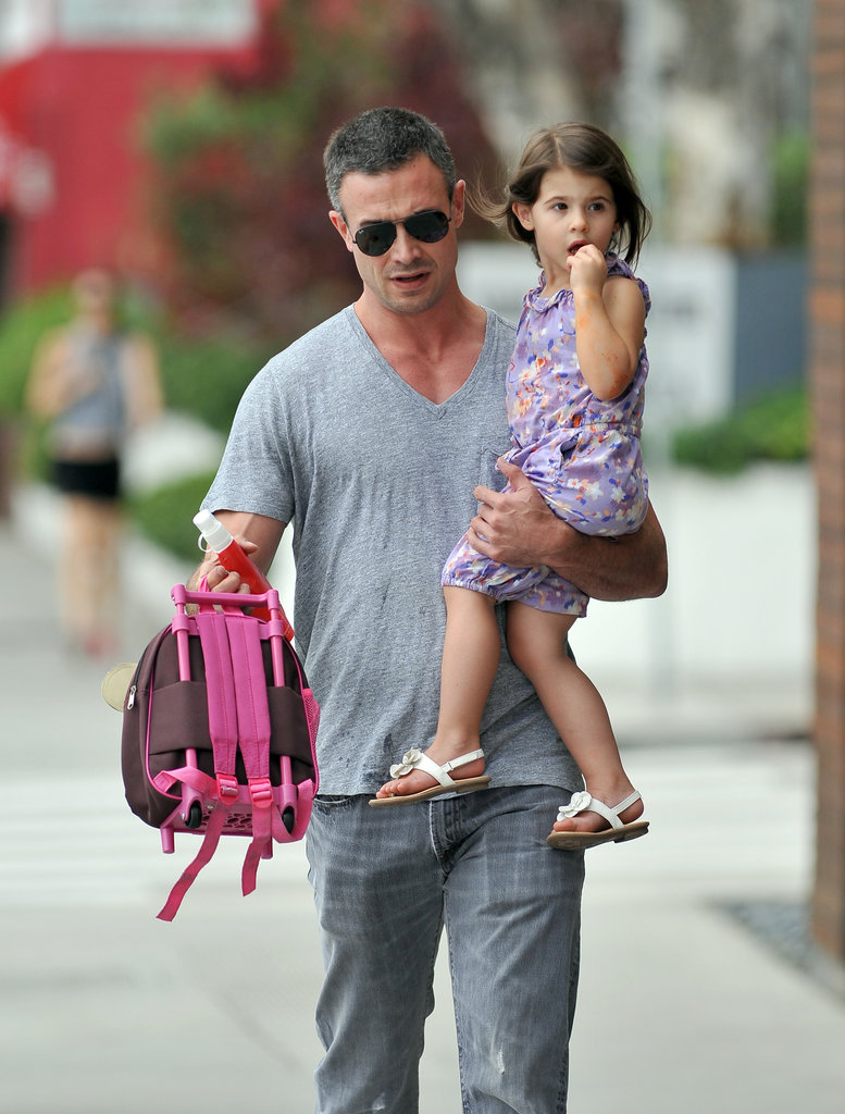 Freddie Prinze Jr. and Charlotte headed to school together.