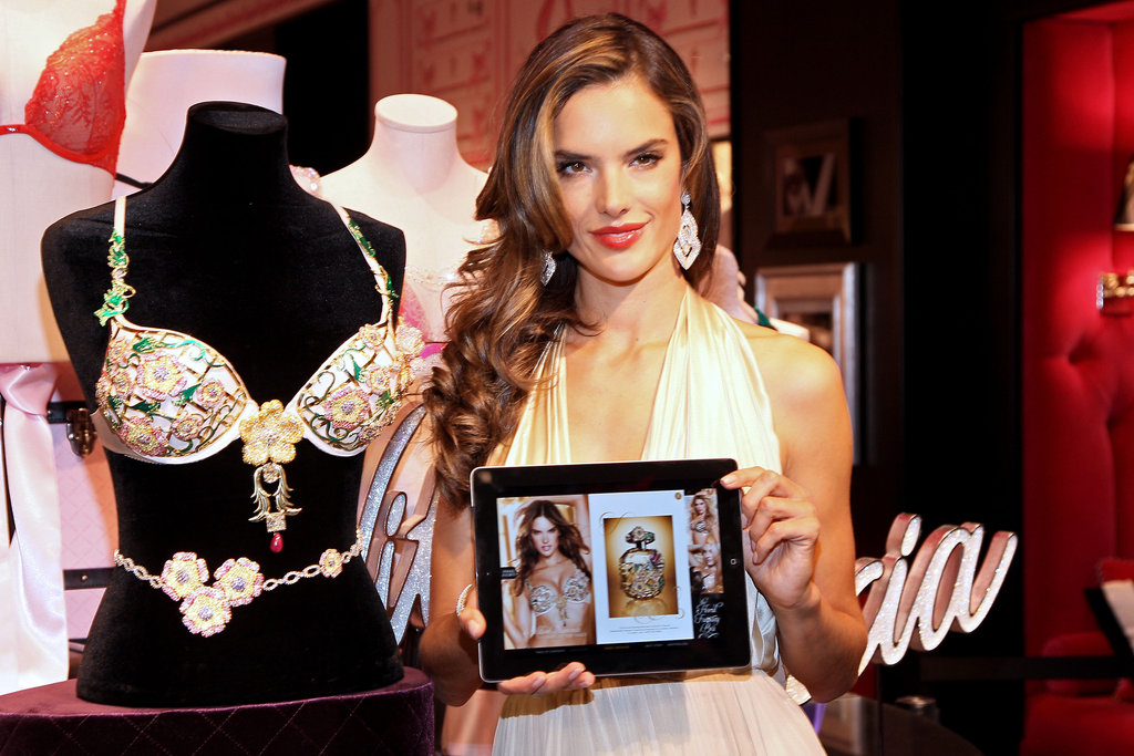 "Alessandra Is the ""Luckiest Girl in the World"" to Model the VS Fantasy Bra"