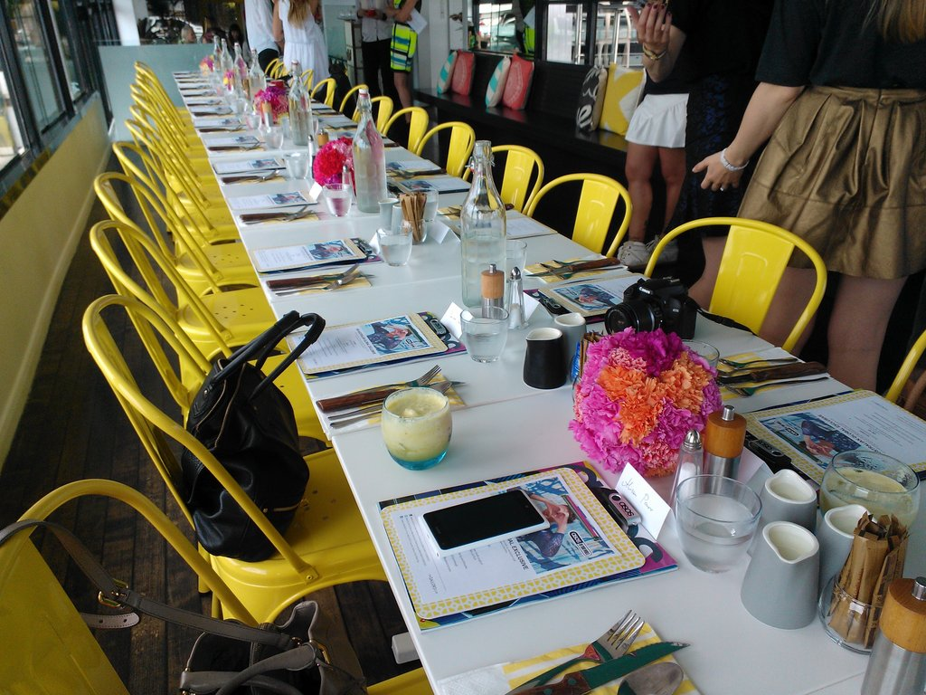 Beautiful table settings at the ASOS 'In Your World' launch.
