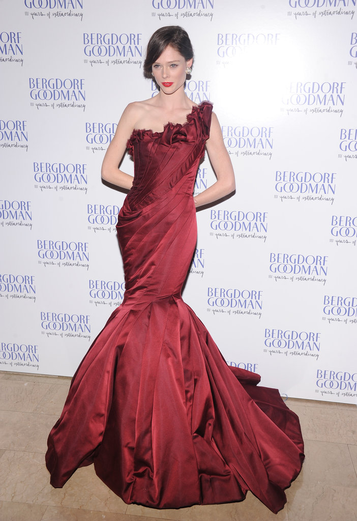 Coco Rocha posed for photos at the event in a Zac Posen gown.