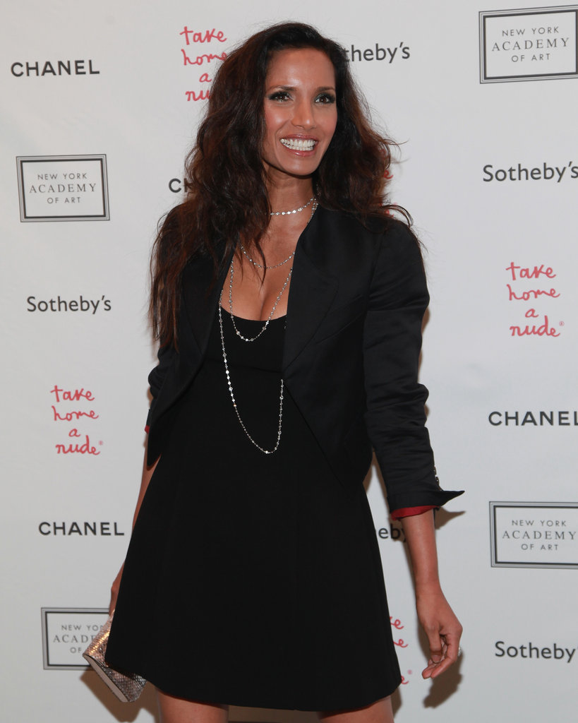 Padma Lakshmi stepped out for the Take Home a Nude art auction in NYC.