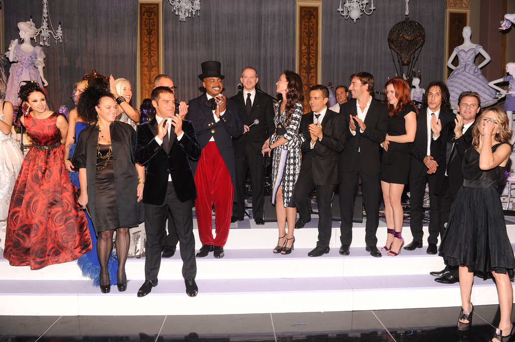 Everyone got on stage to celebrate Bergdorf's big day!
