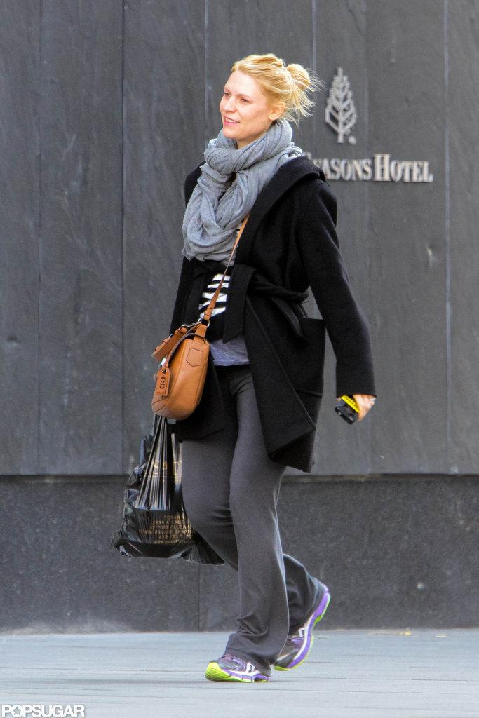 Claire Danes visited Hugh Dancy in Toronto.
