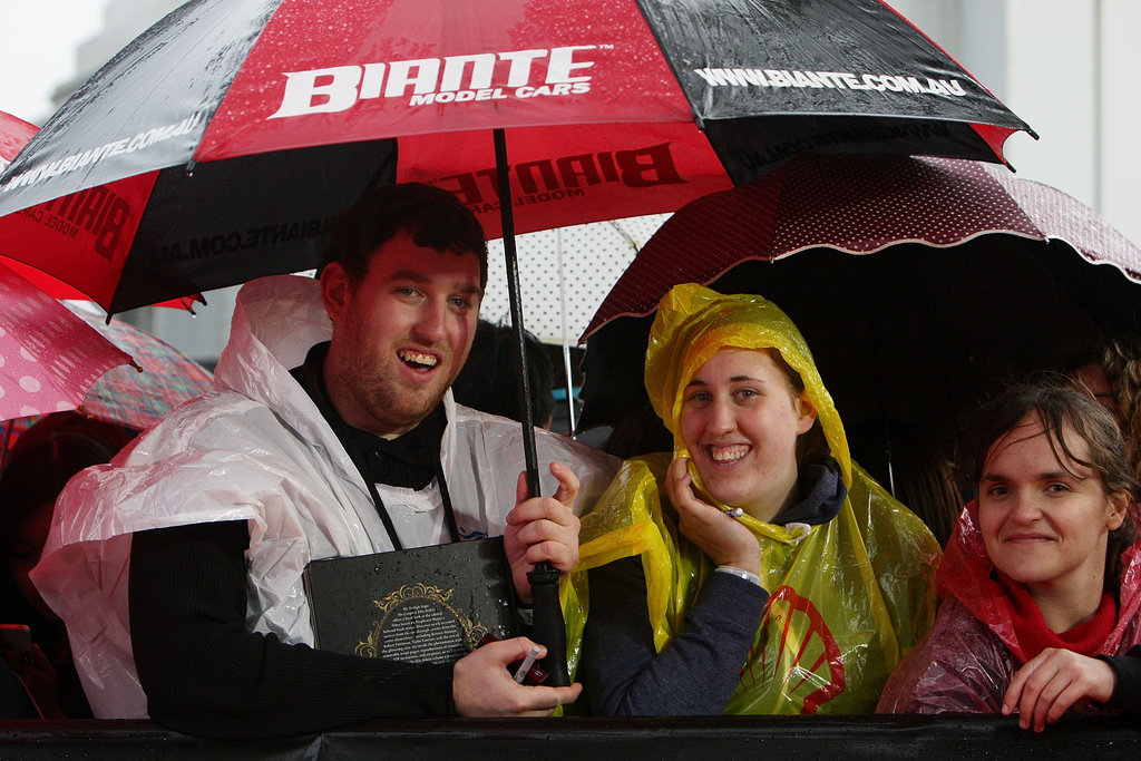 Robert Pattinson fans braved the rain during a Breaking Dawn Part 2 event in Sydney.