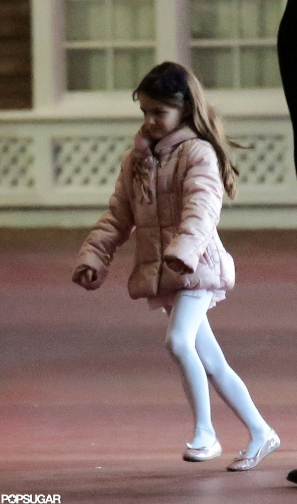 Suri Cruise attended a ballet class in NYC.