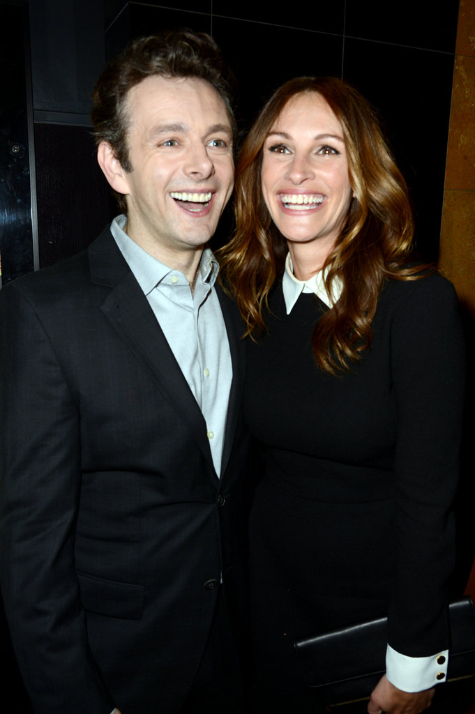 Julia and Michael Sheen had matching smiles at an LA event in April 2012.