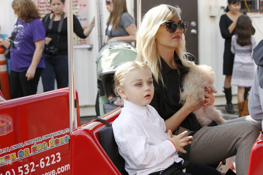 Gwen Stefani and Zuma Rossdale took a ride.