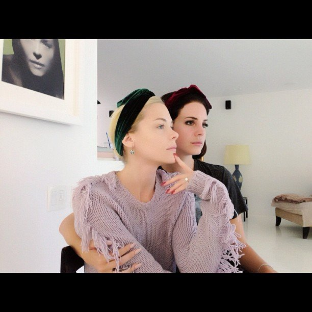 Jaime King struck a pose with friend Lana Del Rey. Source: Instagram user jaime_king