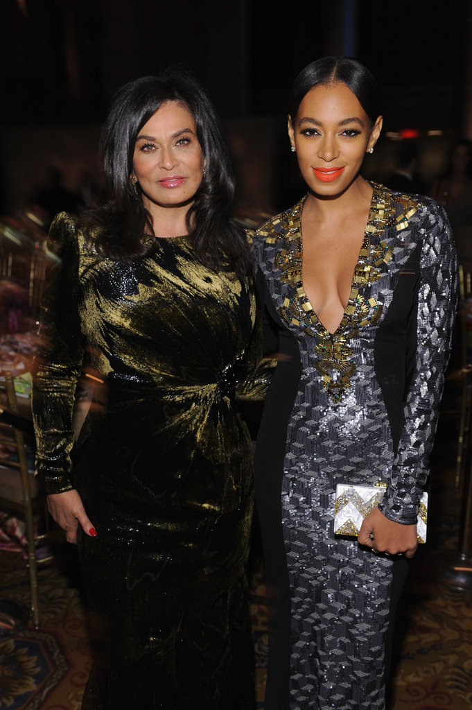Solange Knowles posed with Tina Knowles at the Angel Ball in New York City.