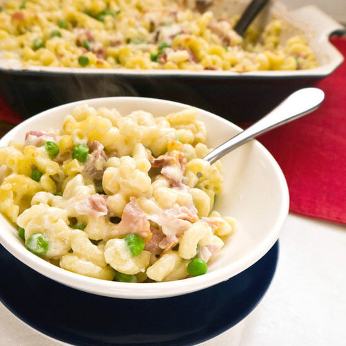 Macaroni and Cheese With Prosciutto and Peas