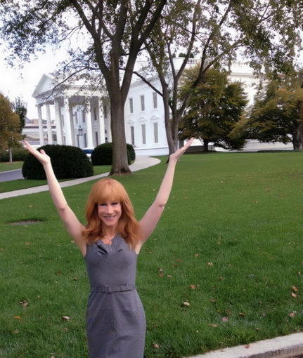 Kathy Griffin visited the White House. Source: Twitter user kathygriffin