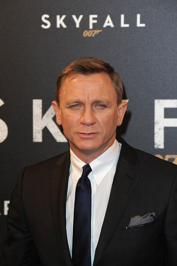 Daniel Craig walked the red carpet for the Paris premiere of Skyfall.