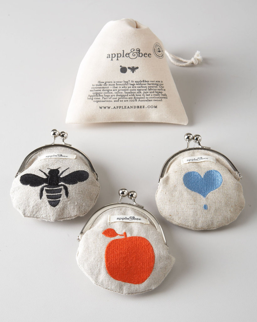 Apple & Bee Hemp Coin Purses