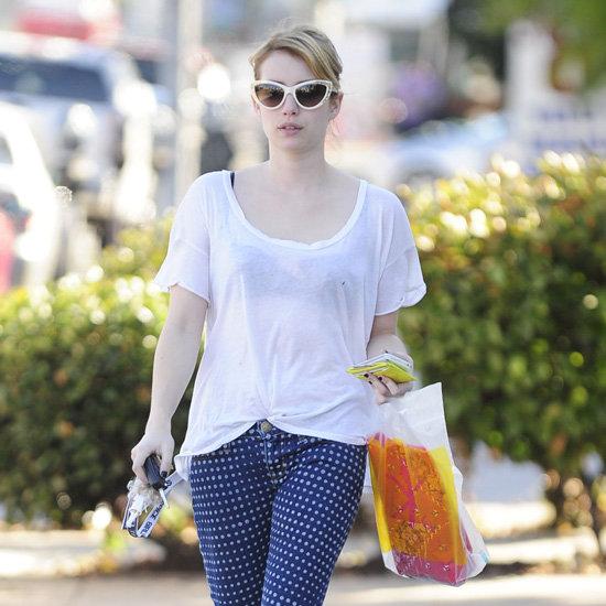 Emma Roberts Wearing Polka Dot Jeans