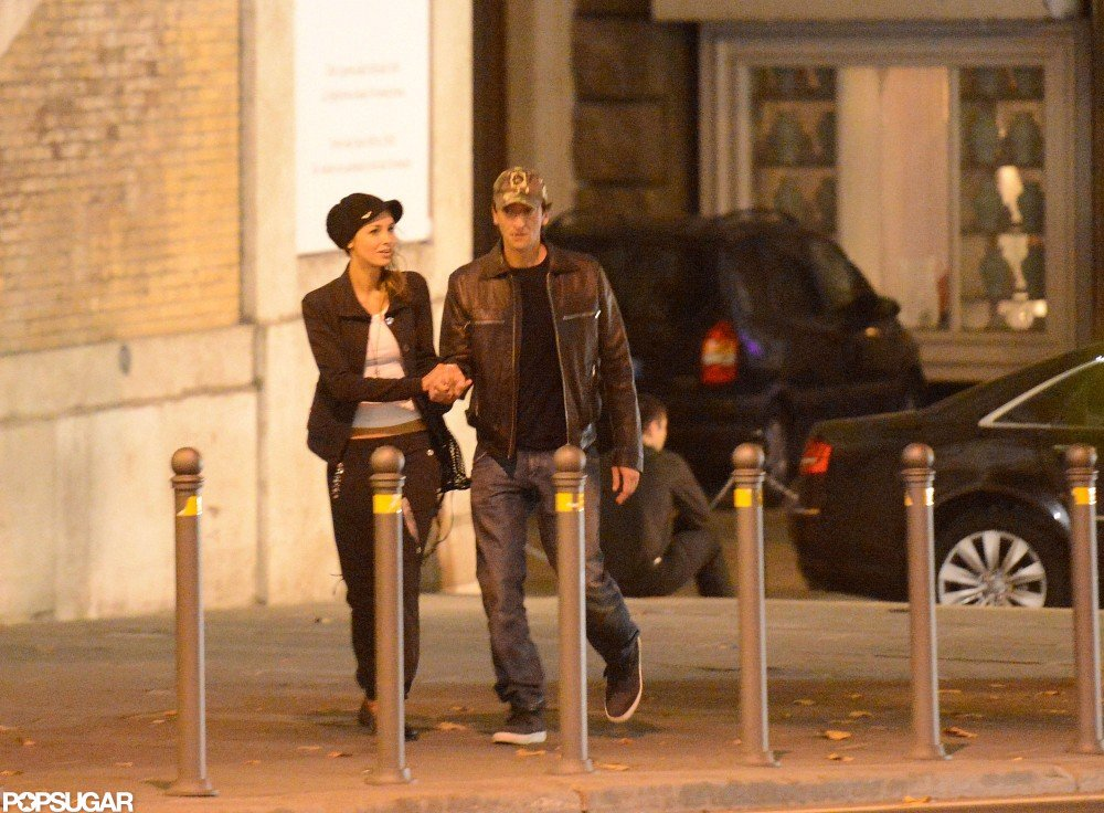 Adrien Brody Has the Look of Love Off Set in Rome