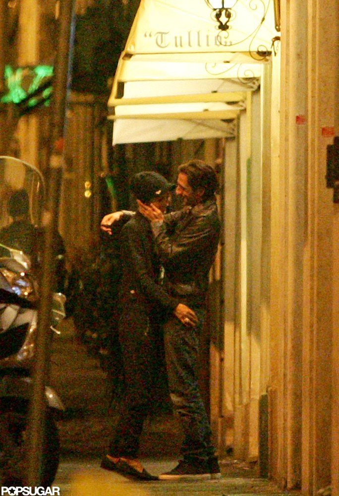 Adrien Brody stepped out with girlfriend Lara Lieto in Rome.