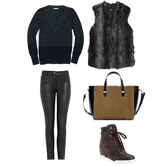 How to Wear a Fur Vest | Fall 2012