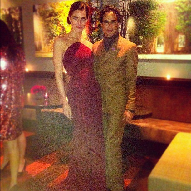 Hilary Rhoda posed with Zac Posen at a Harry Winston event. Source: Instagram user hilaryhrhoda