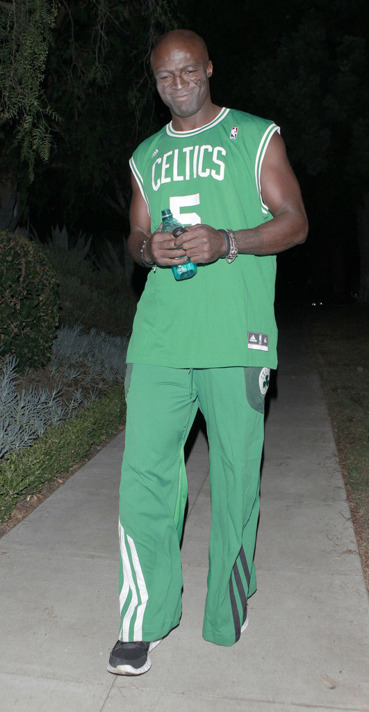 Seal wore Celtics warm-up gear at an LA party on Friday.