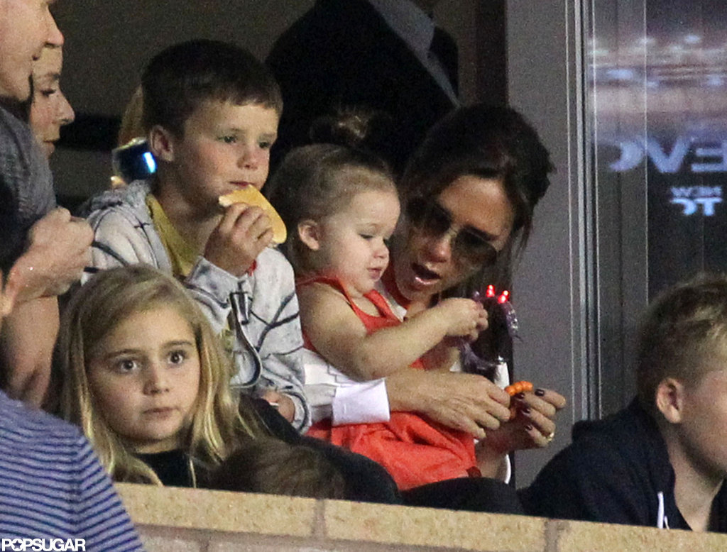Victoria and Harper Cheer On David With the Ramsaysand Russell Brand