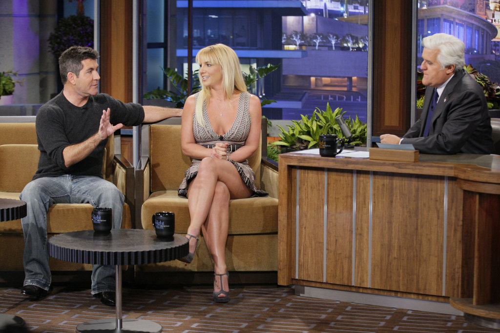 Simon Cowell and Britney Spears joined forces to appear on The Tonight Show With Jay Leno.