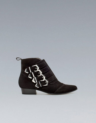 FLAT ANKLE BOOT WITH BUCKLES - Shoes - Woman - ZARA United States