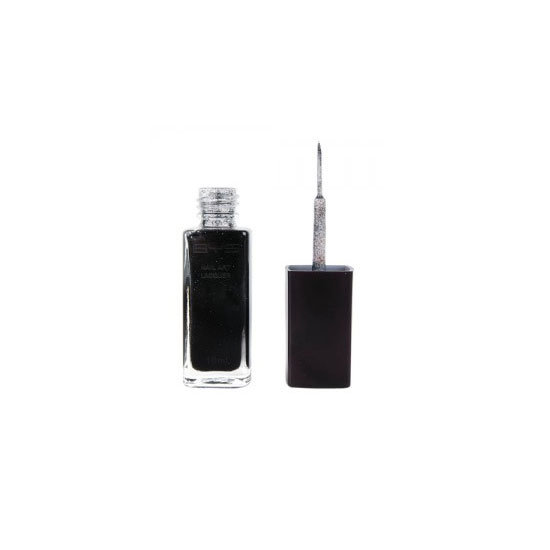 BYS Black Glitter Nail Art Lacquer, $4.95