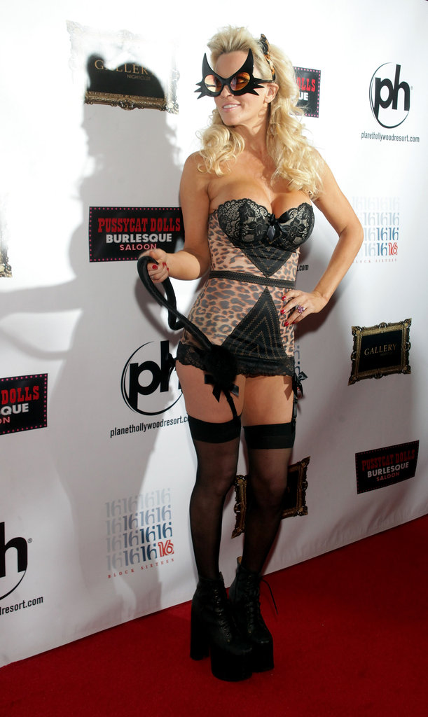 Jenny McCarthy celebrated Halloween and her birthday in Las Vegas on Wednesday.