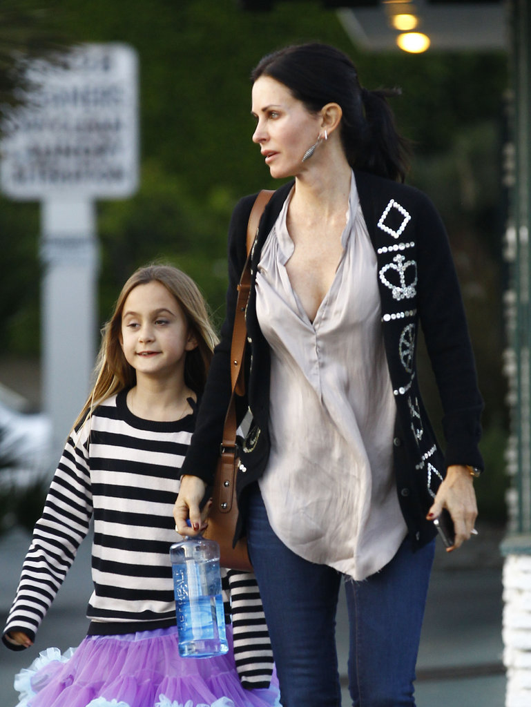 Courteney Cox was out in Brentwood with Coco Arquette.