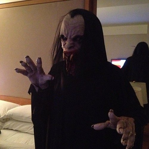 Snoop Dogg tried out a scary pose. Source: Instagram user snoopdogg