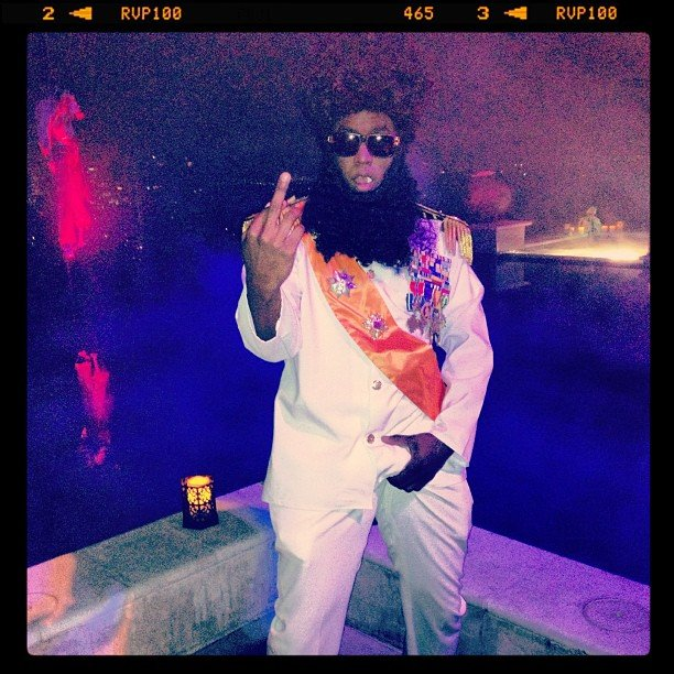 Diddy channeled his inner dictator on Halloween.  Source: Instagram user iamdiddy