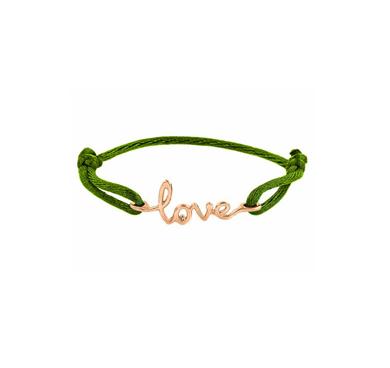 Avanessi One Love Green Cord Bracelet