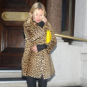 Kate Moss in a Leopard Print Jacket | Pictures