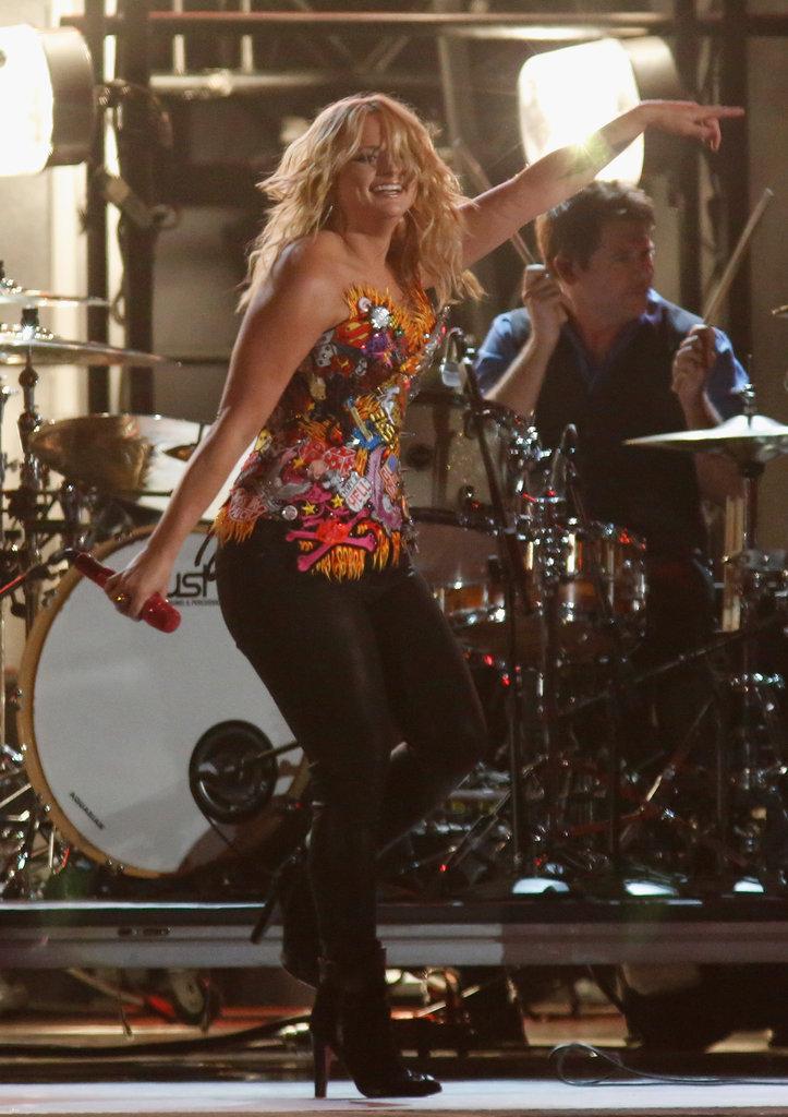 Miranda Lambert performed at the Country Music Association Awards in Nashville.