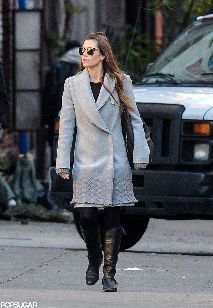 Jessica Biel walked around NYC.