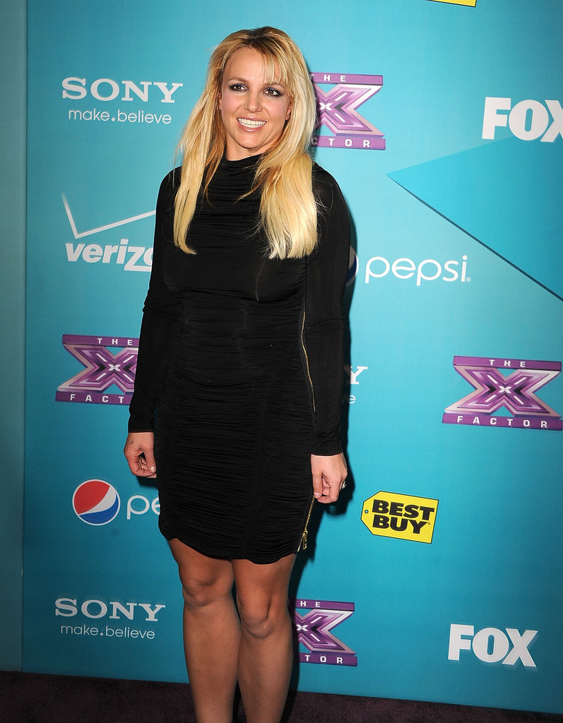 Britney Spears celebrated The X Factor finalists in LA.