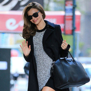 Miranda Kerr Pictures Wearing Thigh High Boots in NYC
