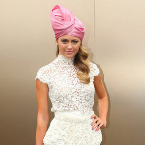 Jesinta Campbell Pink Turban Pictures at 2012 Melbourne Cup