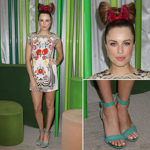 Jessica McNamee in Alice McCall at the 2012 Melbourne Cup