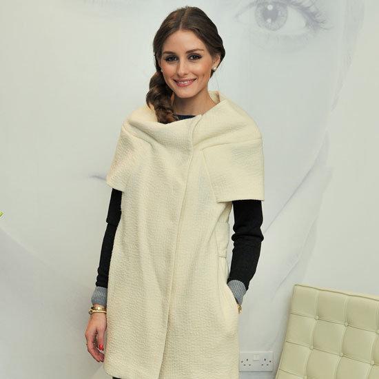 Olivia Palermo Wearing Cream Coat