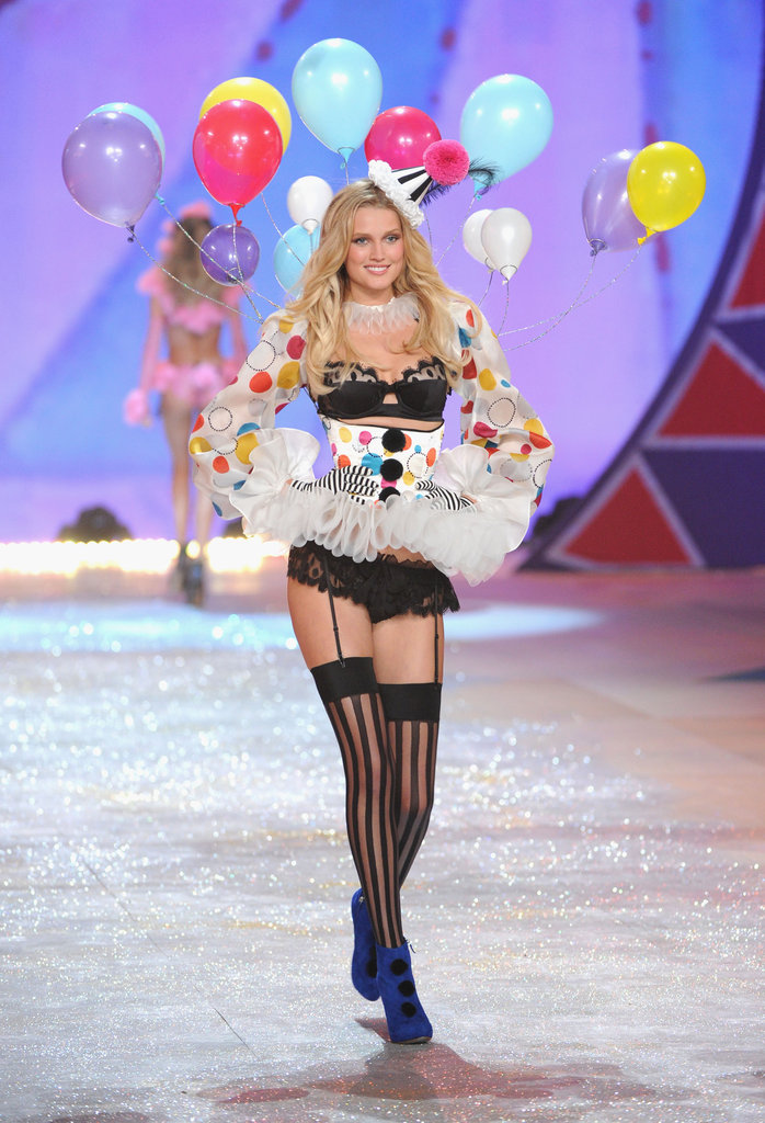 Toni Garrn was on the Victoria's Secret Fashion Show runway.