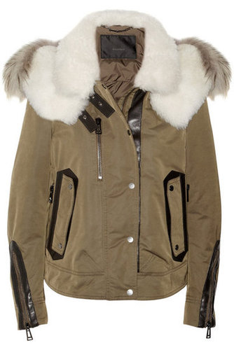 I'm all for a ladylike coat, but every once in a while it's fun to get a little rugged. I'm imagining myself wearing this Belstaff Padded Shell and Shearling Coat ($3,995) and instantly being transported to Aspen. By the way, can someone hook me up with a pair of skis? And a plane ticket? — Britt Stephens, assistant editor