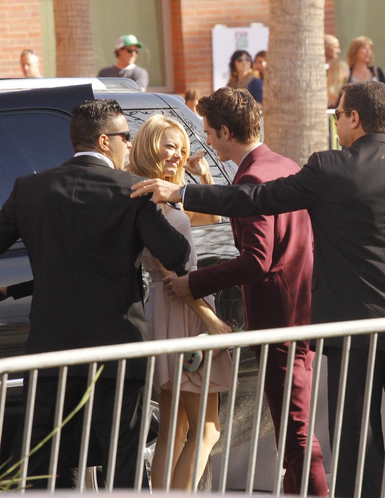 Emma and Andrew were all kinds of cute arriving at the 2012 Kids' Choice Awards in LA.