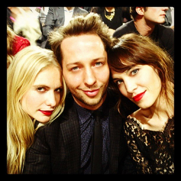 Derek Blasberg attended the Victoria's Secret Fashion Show with pals Poppy Delevingne and Alexa Chung. Source: Twitter user DerekBlasberg