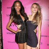 Cara Delevigne, Lily D and Jourdan Dunn at Victoria's Secret
