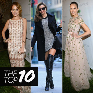 Top Ten Best Dressed: Jess Alba, Miranda Kerr, Nicole Richie